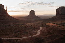 Sunrise At Monument Valley In ...