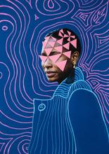 Mixed Media Portrait Of A Black Woman