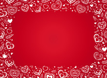 Vector Red Background With Han...
