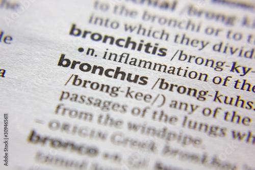 Vászonkép Word or phrase Bronchus in a dictionary.