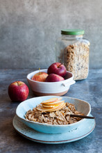 Breakfast Cereal With Sliced Apples