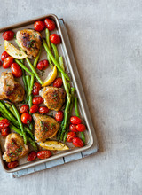 Chicken, Asparagus And Roasted...