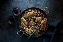 Roasted Chicken With Mushrooms...