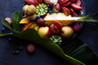 Delicious tropical fruits