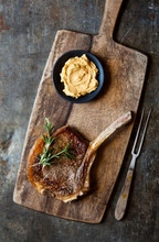 Juicy Steak With Whipped Miso Butter