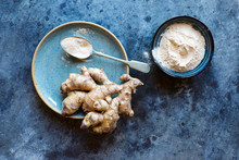 Fresh Ginger Root And Baobab P...
