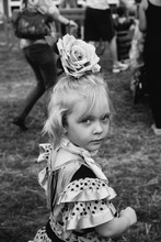 Girl In Spanish Dancing Costume.