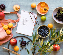 Grocery Shopping List With A Variety Of Fruit