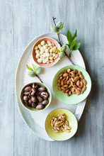 Raw Nuts. Fresh Almond Nuts Wi...