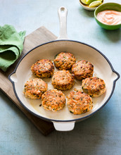 Salmon Fish Cakes (patties) With Dill And Lemon