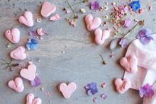 Pink Pretty Heart Meringues