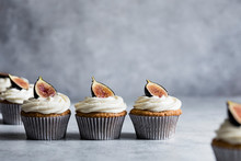 Fig Cupcakes With Vanilla Fros...