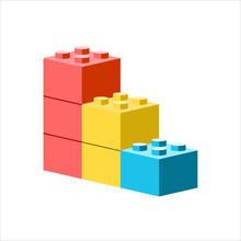 Building Block Icon.Element In Trendy Style.