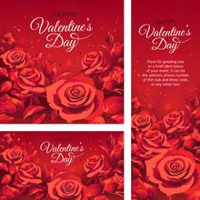 Set Of Valentine's Day Greetin...