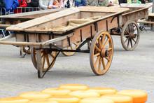 Traditional Cheese Market In Alkmaar, Holland