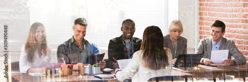 Multi Ethnic Businesspeople In Meeting
