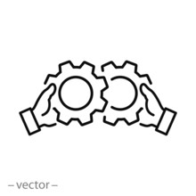 Corporate Work Icon, Mechanica...