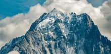 Aiguille Verte In Close-up Wit...