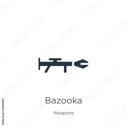 Bazooka icon vector Canvas Print