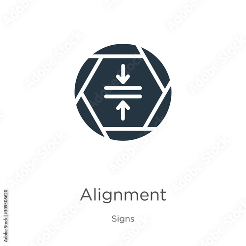 Alignment icon vector Canvas Print