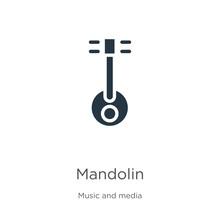 Mandolin Icon Vector. Trendy F...
