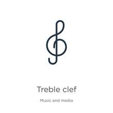 Treble Clef Icon Vector. Trend...
