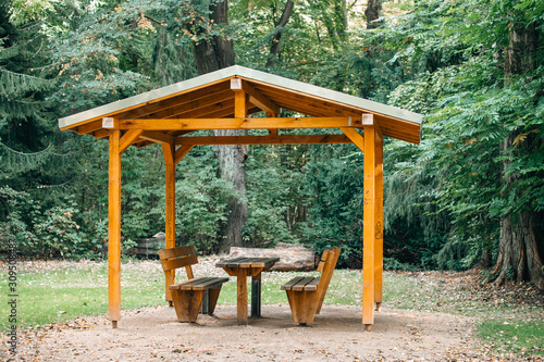 Covered seating area Fototapeta
