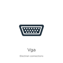 Vga Icon Vector. Trendy Flat V...