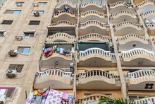 Balconies On An Apartment Buil...