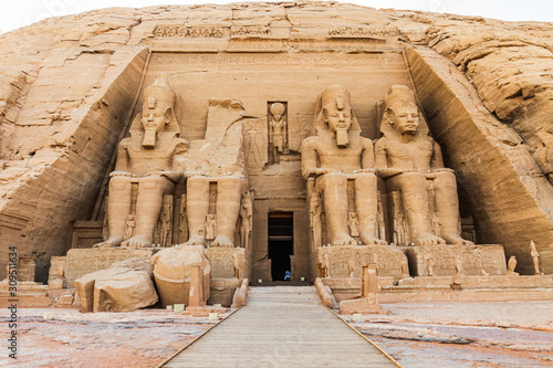 Fotografie, Obraz The Great Temple at the Ramses II Temples at Abu Simbel