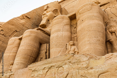 The Great Temple at the Ramses II Temples at Abu Simbel Tablou Canvas