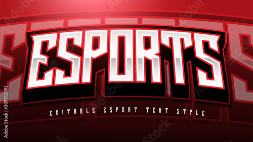 Fotomural Esport Text Style effect Mockup