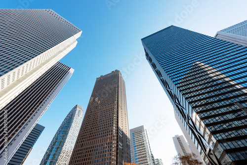 Fotografia High-rise buildings of fine weather - Shinjuku, Tokyo, Japan   新宿 高層ビル ビジネス街