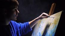 Artist Copyist Paint Seascape ...