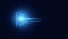 Abstract Technology Computing ...