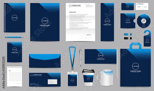 Obraz na płótnie Corporate identity set branding template design kit