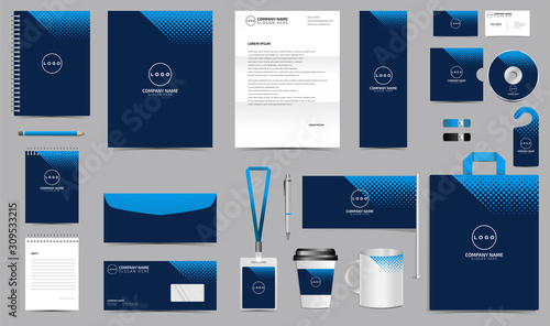 Fotografia Corporate identity set branding template design kit