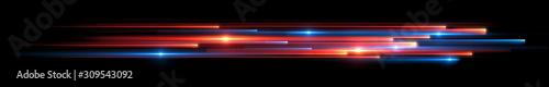 Dynamic lights shape on dark background Fototapet