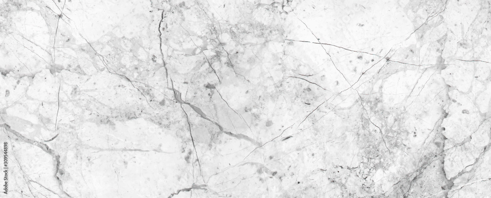 Fototapeta White Cracked Marble rock stone texture background