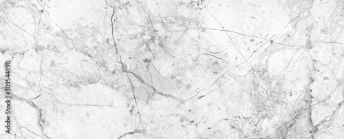 Fototapeta White Cracked Marble rock stone texture background obraz