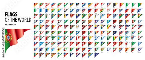 Fotografiet National flags of the countries