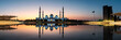 canvas print picture - Mosque reflected on the water in Abu Dhabi emirate of UAE