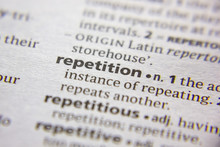 Word Or Phrase Repetition In A Dictionary.