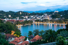 Kandy Lake And Kandy City Aeri...