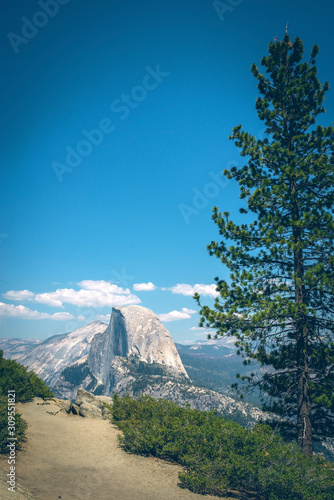 Panoramic view from Glacier Point over Yosemite Valley Wallpaper Mural