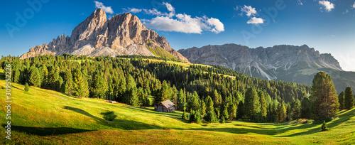 Panorama of Passo delle Erbe in Dolomites