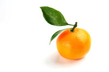 Ripe Orange Mandarin With A Gr...