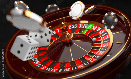 Tableau sur Toile Casino background