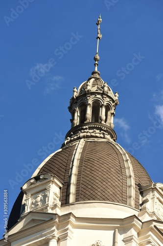 Tablou Canvas Vienna cupola roof of an old residential downtown palace