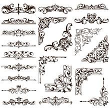 Ornamental Design Lace Borders...